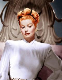 Lucille Ball Elegant Portrait in Brilliant Color Globe Photos Fine Art Print
