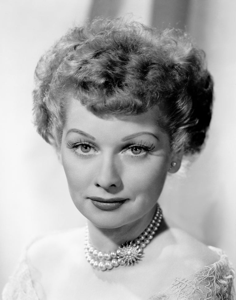 Unknown Black and White Photograph - Lucille Ball in Pearls II Fine Art Print