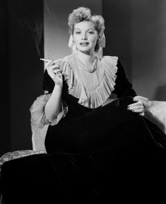 Lucille Ball Smoking in the Studio Movie Star News Fine Art Print