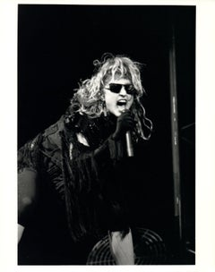 Madonna Performing on Stage in Sunglasses Vintage Original Photograph