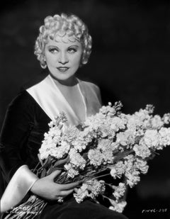 Mae West Holding Flowers Fine Art Print