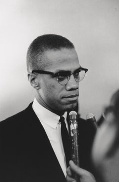 Malcolm X Being Interviewed Fine Art Print