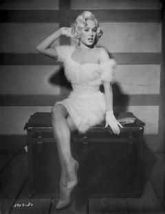 Mamie Van Doren Pinup in White Fur Fine Art Print