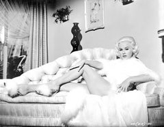 Mamie Van Doren Pinup on Couch Fine Art Print