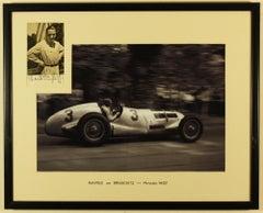 Manfred Von Brauschitz 1937 Donington Grand Prix, with inset signed Photo