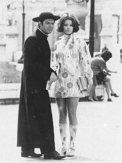 Marcello Mastroianni and Sofia Loren - Original Vintage Photograph - 1960s