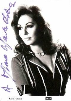 Maria Chiara Autographed Photograph - 1960s
