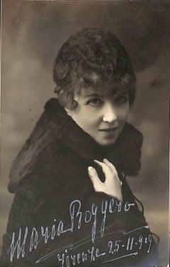 Maria Roggero Autographed Photograph - 1909