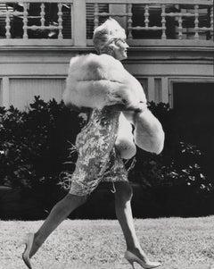 Marilyn Candid on a Stroll Fine Art Print