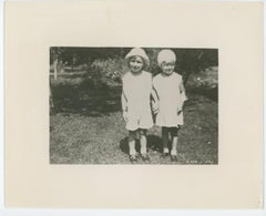 Marilyn Monroe as a Young child Holding Hands With a Friend