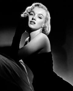 Marilyn Monroe Elegant Portrait in Black Gloves Globe Photos Fine Art Print