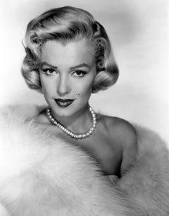 Marilyn Monroe Posed in Fur Globe Photos Fine Art Print