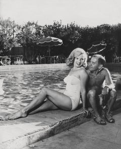 Marilyn Monroe Posed Poolside Fine Art Print
