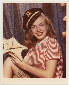Marilyn Monroe Sailor Girl Photoshoot Pressprint from the Kim Goodwin Collection