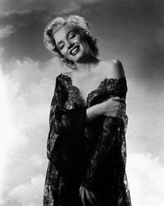 Marilyn Monroe Smiling in Black Lace Globe Photos Fine Art Print