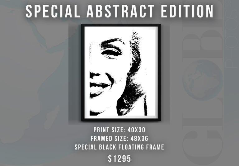 Marilyn Monroe Special Abstract Edition Framed Art Print - Photograph by Unknown