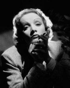 Marlene Dietrich Smoking in the Studio Globe Photos Fine Art Print