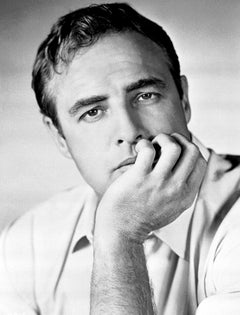 Marlon Brando Handsome Star Up Close Globe Photos Fine Art Print