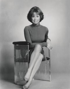 Mary Tyler Moore Posed Sitting in the Studio Fine Art Print