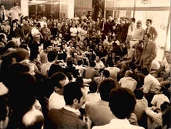 Meeting in CNEN - Vintage Black and White Photo - 1970's