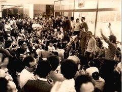 Meeting in CNEN - Vintage Black and White Photo - 1970s