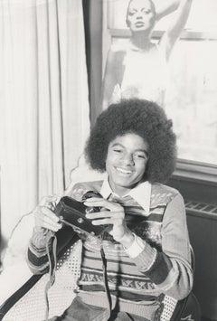 Michael Jackson With a Camera Globe Photos Fine Art Print