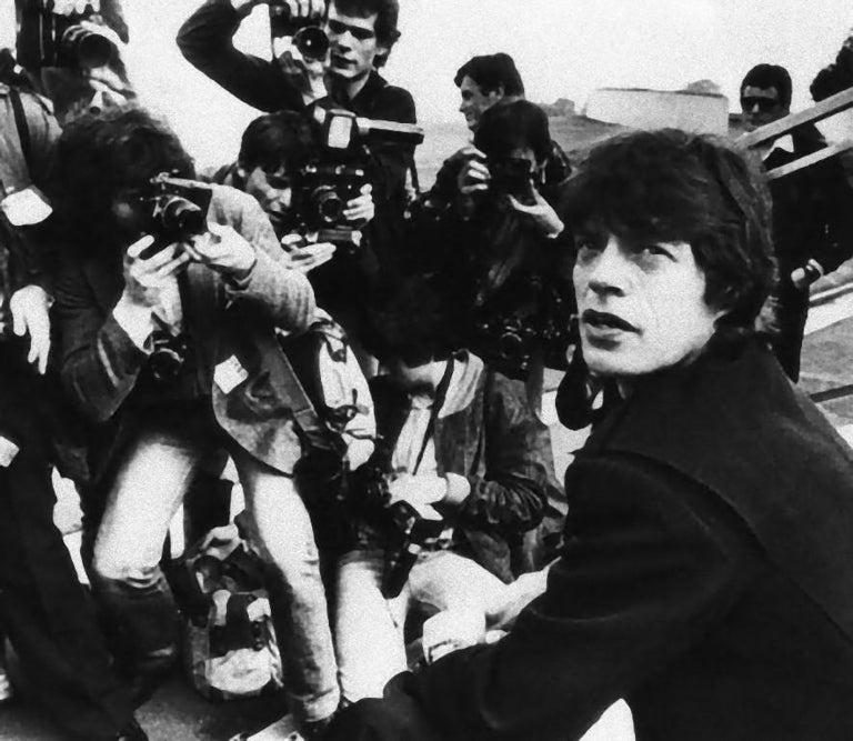Unknown Black and White Photograph - Mick Jagger Announced Tour - Vintage Photograph - 1960s