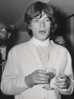 Mick Jagger Candid at a Party Globe Photos Fine Art Print