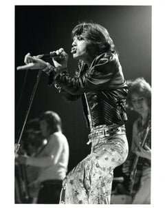 Mick Jagger of The Rolling Stones Performing Vintage Original Photograph