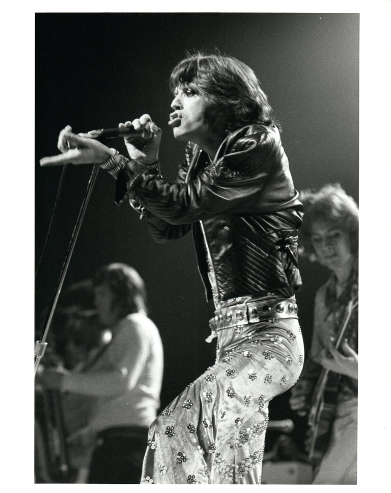 Unknown Black and White Photograph - Mick Jagger of The Rolling Stones Performing Vintage Original Photograph