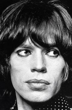 Mick Jagger: Rockstar Up Close Globe Photos Fine Art Print