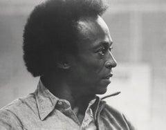 Miles Davis Profile Portrait Fine Art Print
