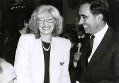 Monica Vitti and Franco Carraro - Vintage b/w Photo - 1980s
