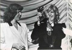 Monica Vitti and Liv Ullman - Vintage Black and White Photo - 1980s