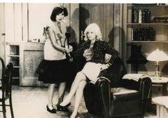 Monica Vitti - Black and White Photo - Original Photograph - 1970s