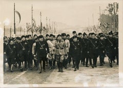 Mussolini At 13th Anniversary of Fascism - Vintage Photo - 1935