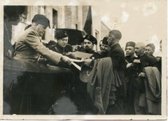 Mussolini Awards the Farmers in Pontinia - Vintage Photo 1935