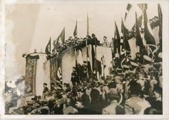 Mussolini During The Anniversary of the city of Rome - Vintage Photo - 1937