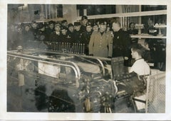 Mussolini during the International Textile Exhibition - Vintage Photo - 1937