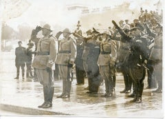 Mussolini during the King's Birthday Ceremony - Vintage Photo 1934
