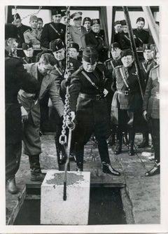 Mussolini Founds Cinecittà (Rome) - Vintage Photograph 1936