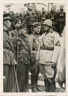 Mussolini in Military Clothes during 15° Anniversary of the March to Rome