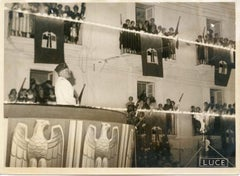 Mussolini in Syracuse - Vintage Photograph 1933