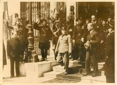 Mussolini Meeting - Vintage Photo - 1937