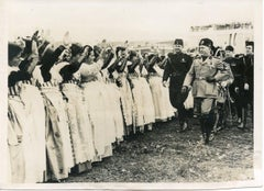 Mussolini with a Group of Women - Vintage Photo - 1935
