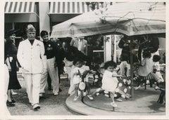Mussolini With Children - Vintage Photo 1937