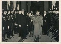 Mussolini with Stojadinović and Bastianini - Vintage Photo - 1937