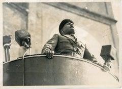 Mussolini's Speech - Vintage Photo - 1934