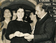 Natalia Ginzburg Recives the XVII Strega Prize - Vintage photograph - 1963