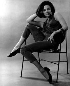Natalie Wood Glamour Posed in Chair Globe Photos Fine Art Print